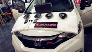 西安全本田飞度汽车隔音音响改装入门级经典案例