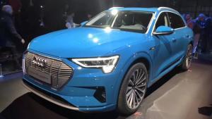 奥迪首款纯电SUV e-tron全球首发,尽显未来科技感