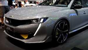 2019日内瓦车展:标致508高性能车,獠牙灯+无框车门