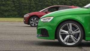 Audi RS3 vs Jaguar I-Pace 加速、刹车测试