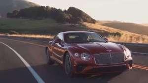 红色2020款宾利欧陆GT V8实拍!