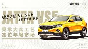 秉承大众工艺定位年轻市场 德系入门SUV JETTA VS5