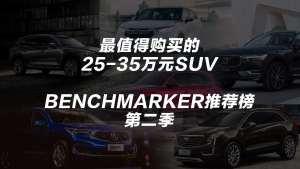 25~35万最值得购买的SUV丨Benchmarker推荐榜·第二季