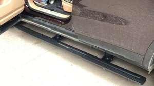 卡宴电动踏板,保时捷电动脚踏板安装好原来那么好看