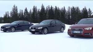 奥迪A4对比宝马3系冰雪四驱 quattro真的毫无悬念?