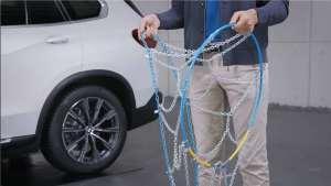 如何给SUV装防滑链?宝马来教您!