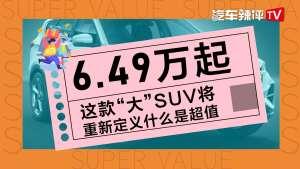 """6.49万起,这款""""大""""SUV将定义什么是超值!"""