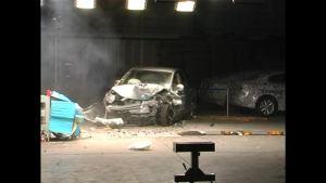 启辰D50 C-NCAP安全测试 40%偏置碰撞