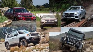 五款越野性能强悍SUV 爬坡涉水展示