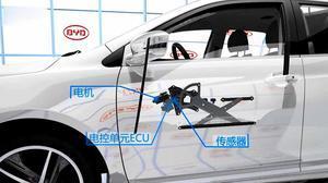 2015款比亚迪秦 左前车窗防夹系统