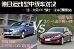 大众CC对比丰田锐志 德日运动中级车对决