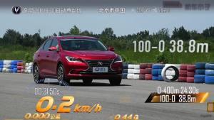 逸动超级评测满载刹车测试项目