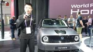 法蘭克福車展實拍本田e:量產后與概念車幾乎完全一樣